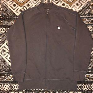 apple logo employee jacket men's size medium